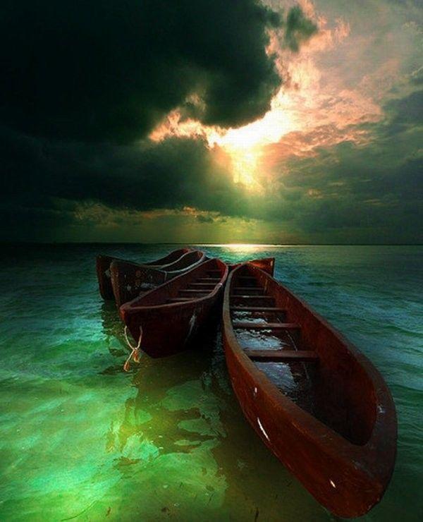 une balade en barque